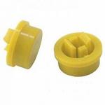Ковпачок А24 12х12х7.3mm для кнопки жовтий