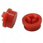 Ковпачок А24 12х12х7.3mm для кнопки червоний