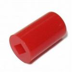 Ковпачок для кнопки 6х8мм червоний