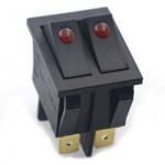 Перемикач клавішний KCD8 212N/C2 6pin з підсвіткою