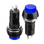 Кнопка PBS-11B (PB-305B) синя без фіксації