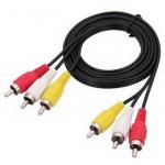 Аудіо-відео кабель 3RCA-3RCA проводи для DVD TV (1.2 м)