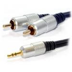 Кабель Konoos 3.5mm stereo plug – 2 RCA plug