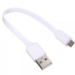 Кабель USB-microUSB для Power Bank 15 см білий