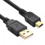 Кабель USB2.0 miniUSB 1.1м чорний