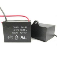 Конденсатор CBB61 3.5uF 450VAC проводи