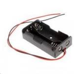 Тримач батарейок 2xAA комутація послідовно