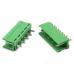 Клемник HT396V 3.96mm 5pin прямий зелений