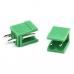 Клемник HT396V 3.96mm 2pin прямий зелений