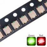 Світлодіод двоколірний 0805 SMD червоний та зелений