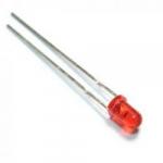 Світлодіод 5mm червоний LED середньої яскравості 3V