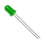 Світлодіод 5мм зелений LED F5 низької яскравості