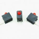 Тримач 3F1C для світлодіодів 3мм чорний