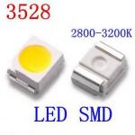 Світлодіод SMD 1210 (3528) білий теплий 3.5х2.8х1.9mm 0.06W