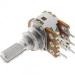Потенціометр R16110G 100K L=15mm подвійний