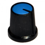 Ручка AG-3 D=15мм H=15мм синя на вісь 6мм
