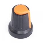 Ручка D=15мм H=17мм оранжева на вісь 6мм