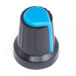 Ручка D=15мм H=17мм синя на вісь 6мм