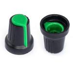 Ручка D=15мм H=17мм зелена на вісь 6мм