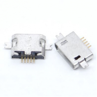 Гніздо micro USB 5pin для монтажу в виріз на платі