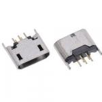 Гніздо Micro USB 5pin контакти 2 ряди