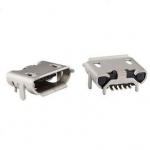 Гніздо micro USB 5pin для монтажу з розширенням сіре