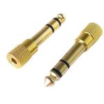 Перехідник стерео Jack 6.35mm-Mini-jack 3.5mm жовтий