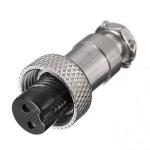 Мікрофонний роз'єм GX12-2 розетка на кабель 2pin