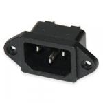 Роз'єм мережевий AS-05 3-pin штекер на корпус (AC-04)