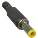 Штекер живлення 5.5/2.1mm L=14mm пластик