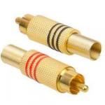 Штекера на кабель RCA CC-010R золотий (пара)