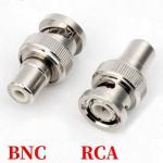 Вилка перехідник з BNC на RCA високочастотна