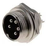 Мікрофонний роз'єм 8041-5 вилка на блок (MIC 335) 5pin