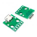 Адаптер micro USB на DIP плата 5pin