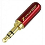 Штекер на кабель Sennheiser 3-pin 3.5mm Бордовий