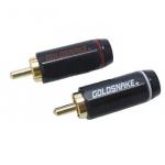 Штекери на кабель RCA GOLD SNAKE (пара)