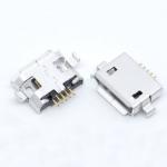 Гніздо micro USB 5pin для монтажу в отвори на платі