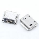 Гніздо micro USB 5pin край вигнутий