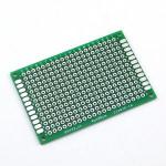 Плата макетна текстоліт 50х70 мм двостороння зелена