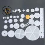 Набір шестерень шківів і пасіків для робототехніки 34 деталі