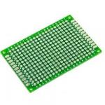 Плата макетна 40х60мм текстоліт двостороння зелена
