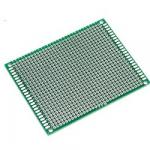 Плата макетна 70х90мм текстоліт двостороння зелена