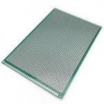 Плата макетна 100х220 мм текстоліт одностороння