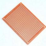 Плата макетна гетинакс з бакелітом 50х70 мм одностороння