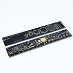 Лінійка з розмірами електронних компонентів 15 см
