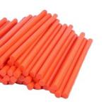 Термоклей помаранчевий 7мм 250мм для клейового пістолета